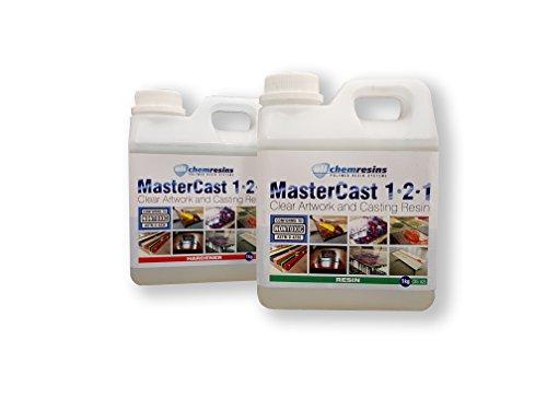 MasterCast 1-2-1 Klares Epoxid-Harz, 2kg, UV-stabilisiert, mit Härtungsmittel und gratis Misch-Werkzeug