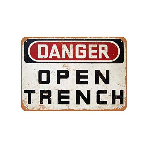 Danger Open Trench Vintage Look Metal Sign Vintage Trench