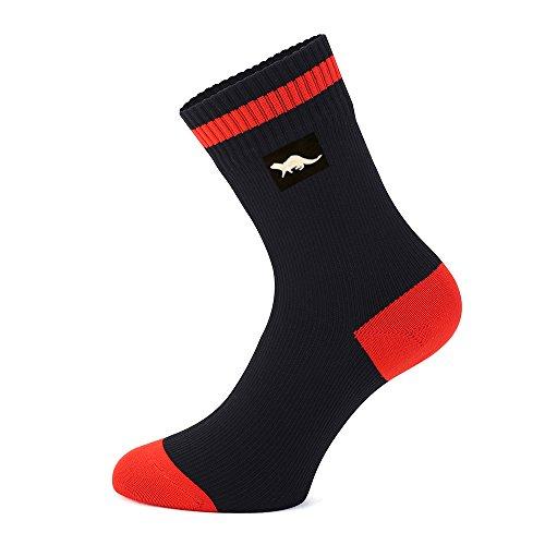 Wasserdichte, atmungsaktive Socken von OTTER für DAMEN und HERREN.(Schwarz,Mittel) Geeignet für Outdoor-Aktivitäten wie Golf, Laufen, Radfahren, Bergwandern und Wandern. Die COOLMAX® CORE-Technologie. -
