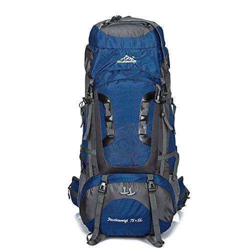 Outdoor Sport Klettern Tasche 80L Großer Kapazität Bergsteigen Rucksack Mit Stent Dark