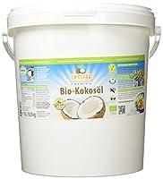 Premium Bio Kokosöl (10 L Eimer) - Kaltgepresst unter 38°C Presstemperatur - Rohkostqualität