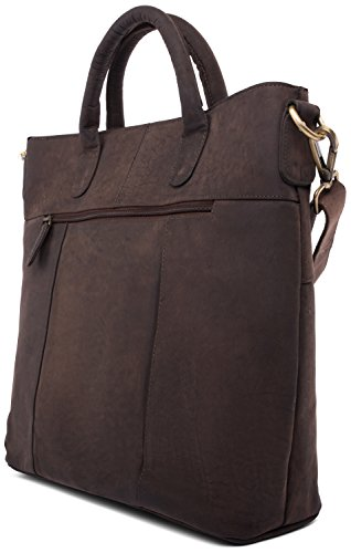LEABAGS Almada sac bandoulière rétro-vintage en véritable cuir de buffle - Noix de muscade Noix de muscade