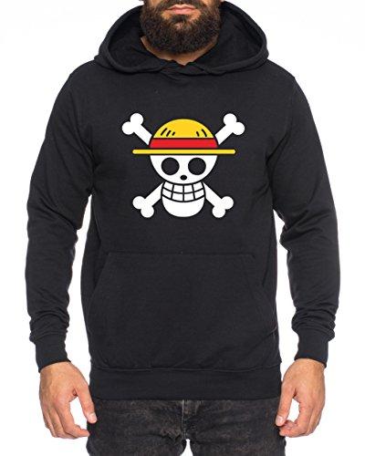 Logo Pirata Sudadera con Capucha Ruffy Zoro One Nami Lysop Piece Portg