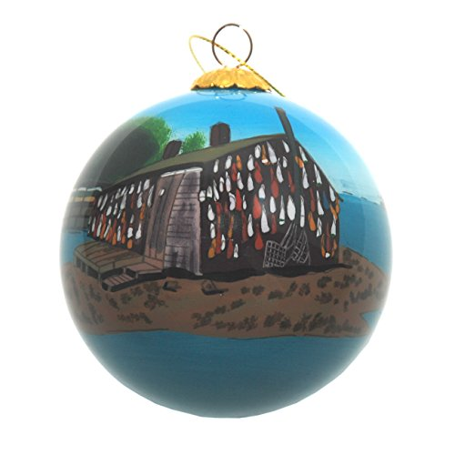 Handbemalt Glas Weihnachten Ornament-Hummer Shack Cape Cod -