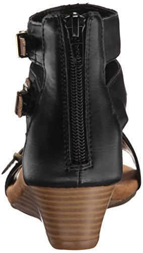 Aerosoles Yet Another Kunstleder Gladiator Sandale Blk Tan Combo