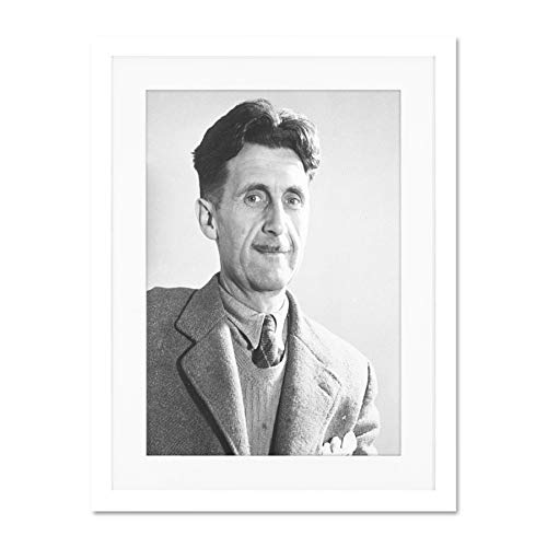 Doppelganger33 LTD Vintage Portrait 1984 Author George Orwell Large Art Print Poster Wall Decor 18x24 inch Supplied Ready to Hang with Included Mount Brackets Jahrgang Porträt Große Kunst Wand Deko -