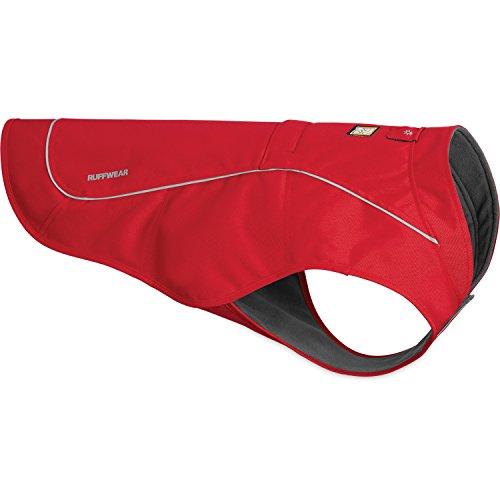 Ruffwear Widerstandsfähige Hunde-Jacke mit Fleece-Innenfutter, Mittelgroße Hunderassen, Größe: M, Rot (Red Currant), Overcoat, 05203-615M