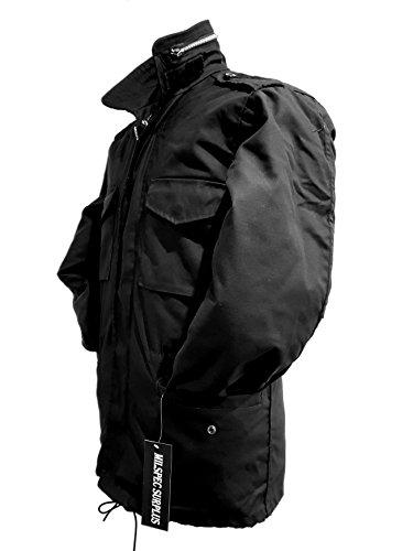 Herren M65US Militär Field Armee Combat Jacke Vintage Parka Coat rutschsicher Größe: XS-XXL Schwarz