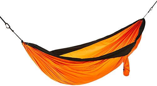 AmazonBasics - Hamaca Doble, Ligera, Color Naranja