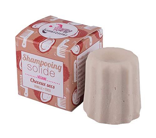 Lamazuna - Shampoo solido alla vaniglia e cocco per capelli secchi, 55 g