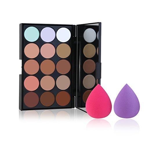 ETEREAUTY Contour Palette Cream Contour kit und Foundation Konturen Palette 15 Farbtöne (Gesicht Teardrop)
