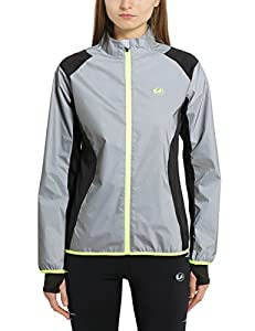 Ultrasport Women's Ultra Visible Running and Biking Jacket-Black, Medium, M