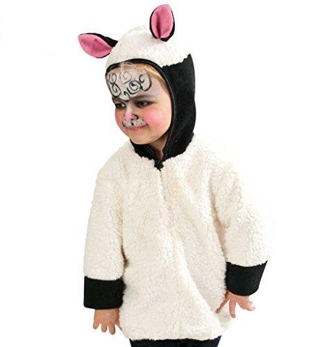 Kostüm Kinder Schaf Shaun Das - Kinderkostüm Schäfchen, Oberteil mit Kapuze und süßen Öhrchen