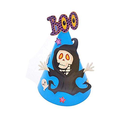 Hot Baby DIY Halloween Karton Hut Transer® Unisex Mode-Hexe-Hut Halloween Ornament Hat für Parteien Karneval Höhe: 30cm (Hüte Einzigartige Hexe)