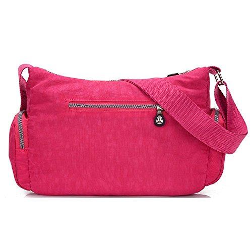 Suzone da donna in nylon borsa messenger a tracolla zainetto sportivo Pack Leisure borsa a tracolla, donna, Stars Navy