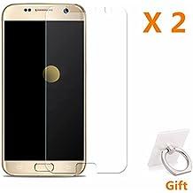 Protector de Pantalla Galaxy S7 Edge,RUIST 9H Dureza [Alta Sensible] [Alta Definición] Protector Cristal Vidrio Templado para Samsung Galaxy S7 Edge [2 Unidades]