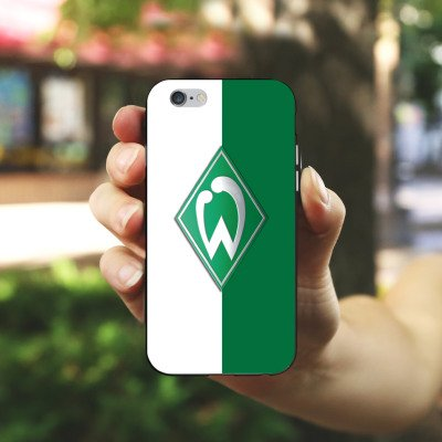 Apple iPhone 8 Plus Hülle Case Handyhülle Werder Bremen Fanartikel SV Bundesliga Fußball Silikon Case schwarz / weiß