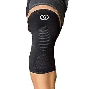 CompressionGear Kniebandage für Männer & Frauen – Kompressions-Knieorthese für Laufen, Radfahren, Gewichtheben, Handball…