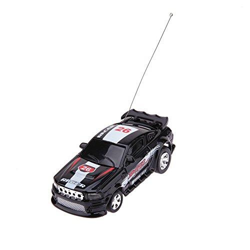 Demiawaking Koks Dose Mini RC Auto Fernbedienung Micro Racing Auto elektrische Spielzeug (Schwarz)