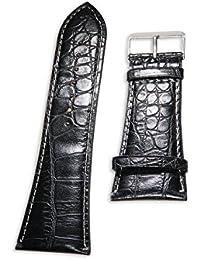 PU-cuero pulsera de cuero de B Enez: 30 mm reloj correa de repuesto Colour negro T145