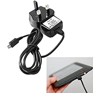 "Amazon Kindle UK 3 Pin Mains / Wall Charger Cable Lead with Charging LED (Kindle, Kindle Touch, Touch 3, Kindle Paperwhite, Kindle Fire, Kindle Fire HD / Kindle Fire HDX, Kindle Keyboard, Kindle 3, Kindle Wi-Fi, 6"" E Ink Display)"