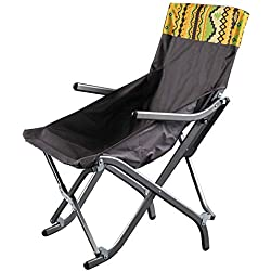 Chaise Pliante Camping,Portable De en Plein Air avec Chaise Longue Accoudoir pour Barbecue