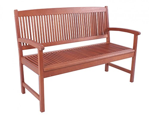 Benelando 2-Sitzer Gartenbank aus Eukalyptusholz