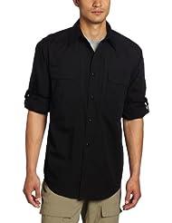 5.11 TacLite Professional - Camisa / Camiseta para hombre, color negro / negro, talla XL