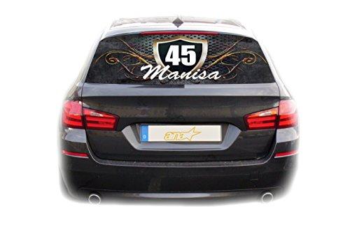 Preisvergleich Produktbild Auto KFZ Heckscheibe Fenster Aufkleber Manisa 45 Türkiye Plaka Fahne