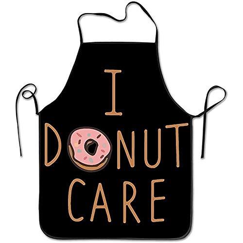 Kostüm Indianer Ziel - Bee Brown Schürzen Ich Donut Care Funny Chef Küche Kochen und Backen Bib Schürze