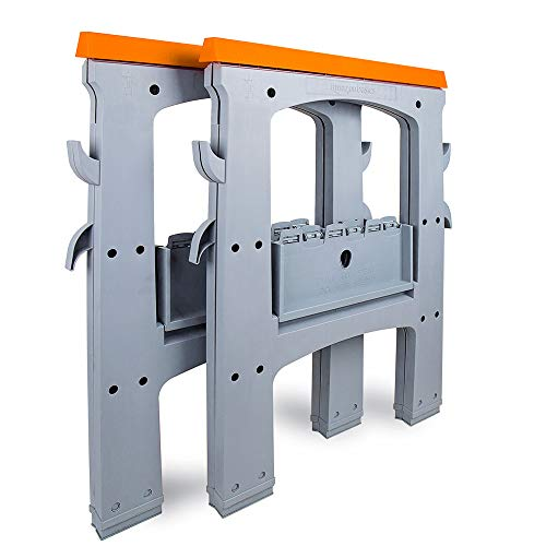 AmazonBasics - Caballete plegable - 408 kg - Pack de 2