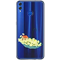 Oihxse Case Transparente Suave TPU Compatible con Huawei Mate 30 Funda [Lindo Caricatura Flor Serie Dibujos] Cristal Protector Carcasa Anti Rasguños Bumper Cover-Paraguas