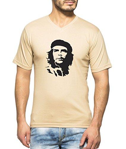 Clifton Men's Printed Half Sleeve V-neck T-shirt -Saffari-Che Guevara-B-L