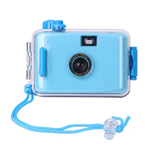 LANDUM Unterwasserkamera Lomo Mini Cute 35mm Film mit Gehäuse Gelb blau