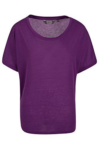 Mountain Warehouse IsoCool Damen-Top mit Fledermausärmeln Violett