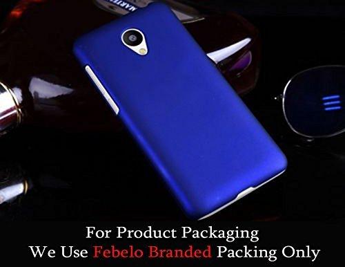 Febelo Branded Rubberised Matte Finished Hard Back Case Cover For Meizu M2 4G 5 inch – Blue