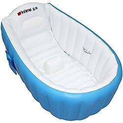 Bebé niño antideslizante bañera hinchable para viajes azul