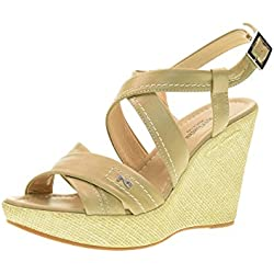 NERO GIARDINI scarpe donna sandali zeppa P717630D/410