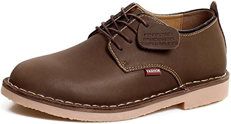 NBWE Zapatos de Cuero para Hombres Zapatos Ocasionales Resistentes al Desgaste