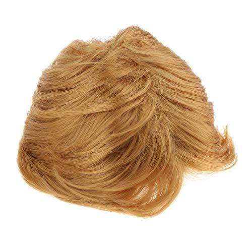 Herren Kurze und Glatte Perücke, Männer Perücke, Blond, One Size, Kostüm (Donald Trump Wig Kostüm)