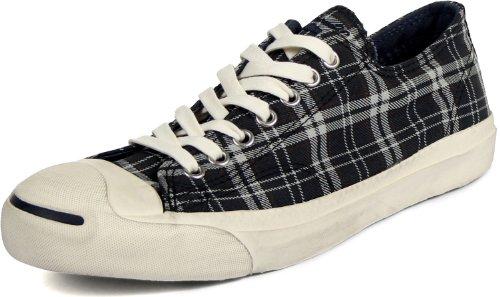 Converse Jack Purcell LTT Chaussures OX dans la Marine/Plaid Blanc cassé Navy/Off White