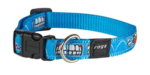 rogz-scooter-collar-comic-medium-16-mm-blue