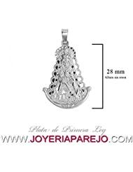 Medalla Virgen del Rocío (Silueta) Plata de Ley 925Mls 28Mm