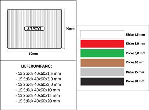 SILISTO Quickies Kunststoff Unterlegplatten 90 Teilig - bis 5 Tonnen belastbar