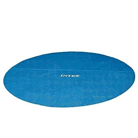 Intex 03654 Bâche à Bulles Bleu Diamètre 4,57 m