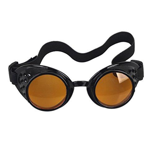 DODOING Weinlese-Art Steampunk Antique Copper Cyber Goggles Brillen Wedding Punk Goth Vintage Cosplay Brille
