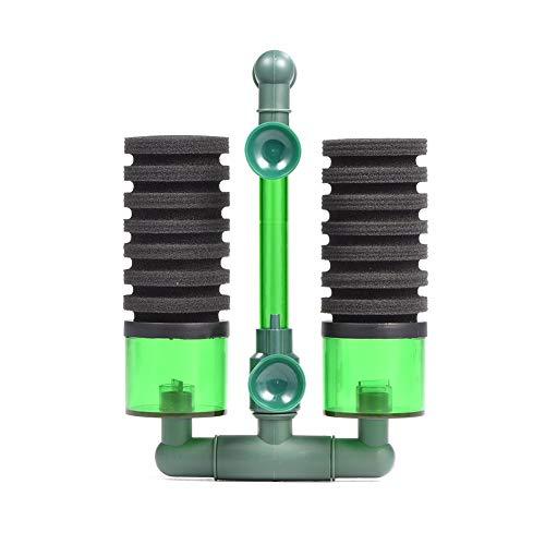 Luftpumpe Doppelkopf Biochemischen Bio Schwamm Schaum Filter mit Saugnapf für Aquarium Ausrüstung(QS-200A) - Erweiterte Filter
