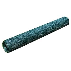Grillage plastifié en vert à mailles hexagonales 36 mm pour cages, volières, protection des massifs et potager