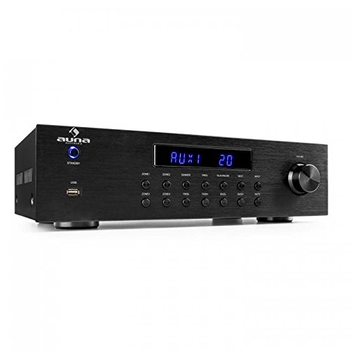 AUNA AV2-CD850BT - 4 Zone Amplificatore Stereo, Amplificatore Audio HiFi, Stereo, 50 W RMS,...