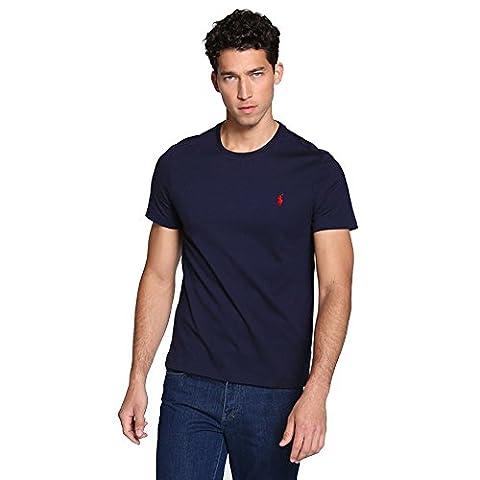 Ralph Lauren - T-shirt Homme (L, Bleu marine)